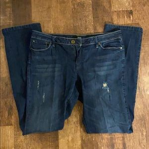 Dark blue jeans from a.n.a. Size 12 modern fit